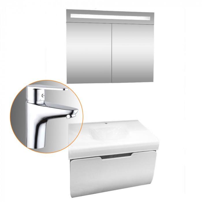 Промо комплект шкафове за баня Макена Малага + смесител Макена Лорена