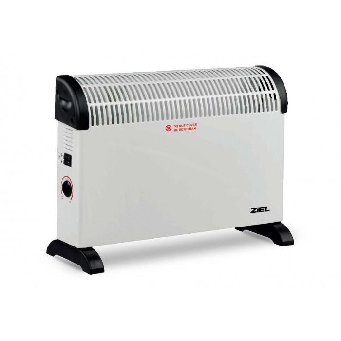 Конвекторна печка Ziel CH09S 750/1250/2000W + стойка за стена