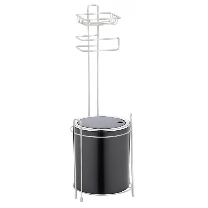 Поставка за тоалетна хартия с кошче за боклук Metalife KB-755 черна