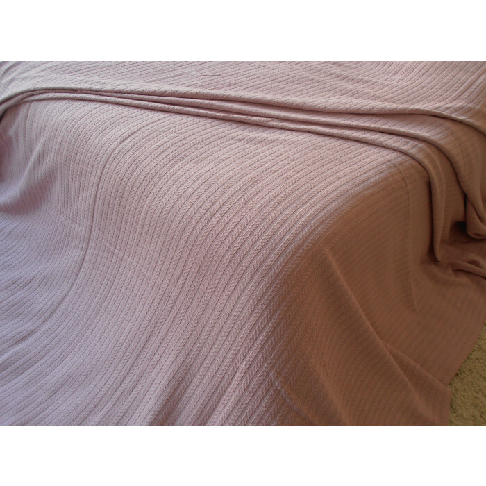 Памучно одеяло / кувертюра Плетеница 120х240см розово