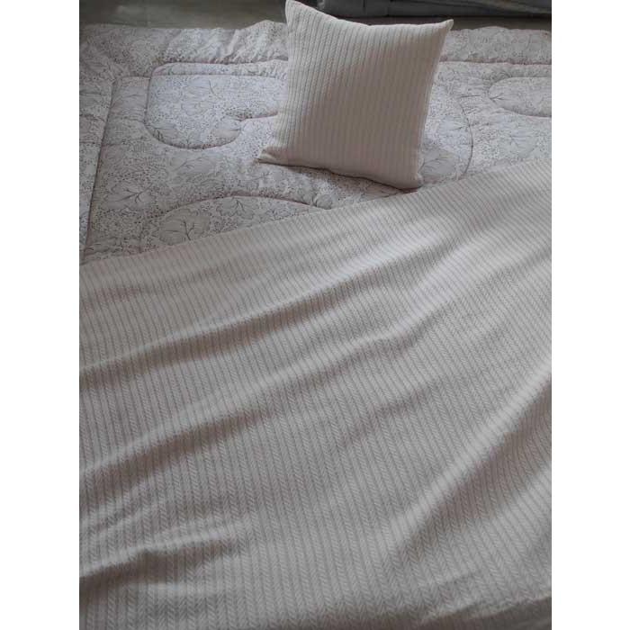 Памучно одеяло кувертюра Плетеница 200х240см бежово