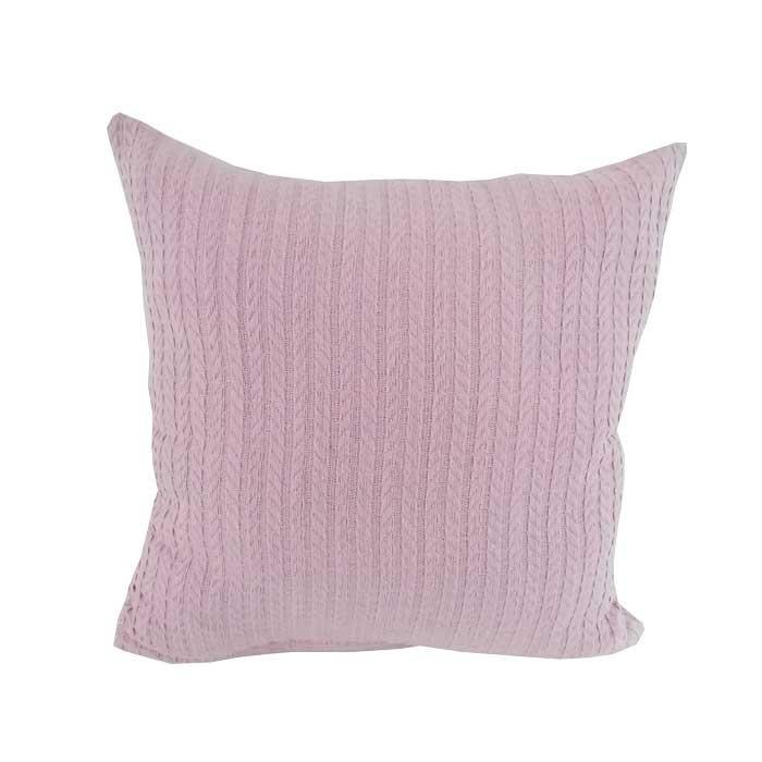 Декоративна възглавница Плетеница 45х45см розова