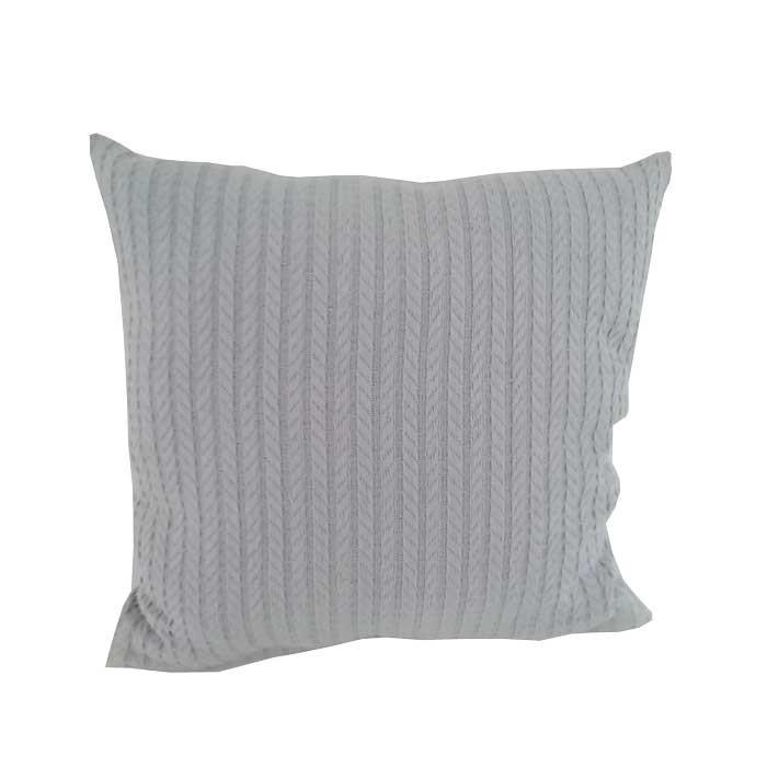 Декоративна възглавница Плетеница 45х45см сива