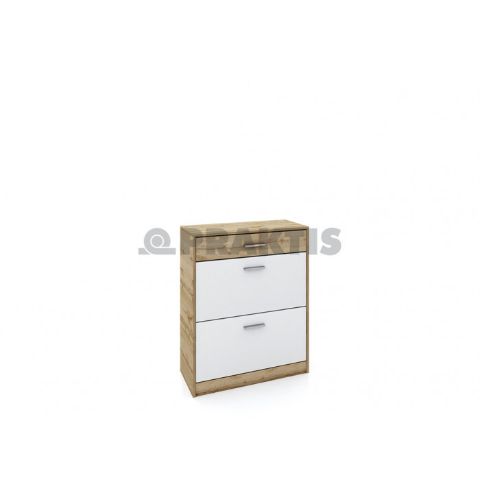 Шкаф за обувки City 4044 дъбдакота / бяло гладко