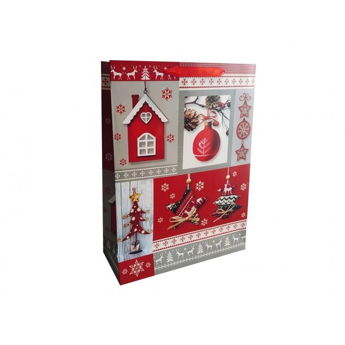 Коледен плик за подаръци Лукс Т25-137 / 41х32х12 см