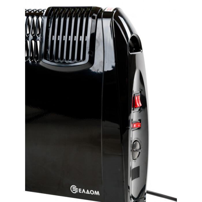 Стоящ конвектор с вентилатор Елдом CFV2000-BL черен / 2kW