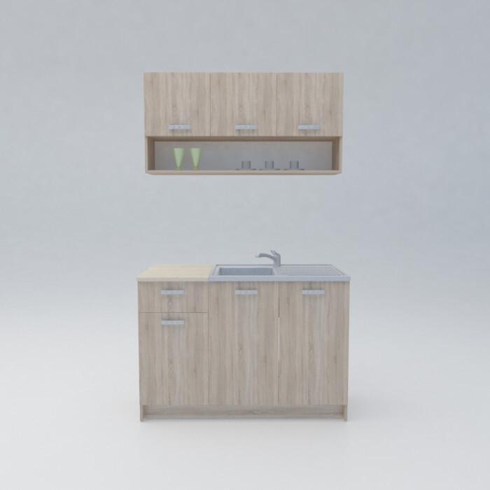 Кухня с термоплот Леда Сонома 120см