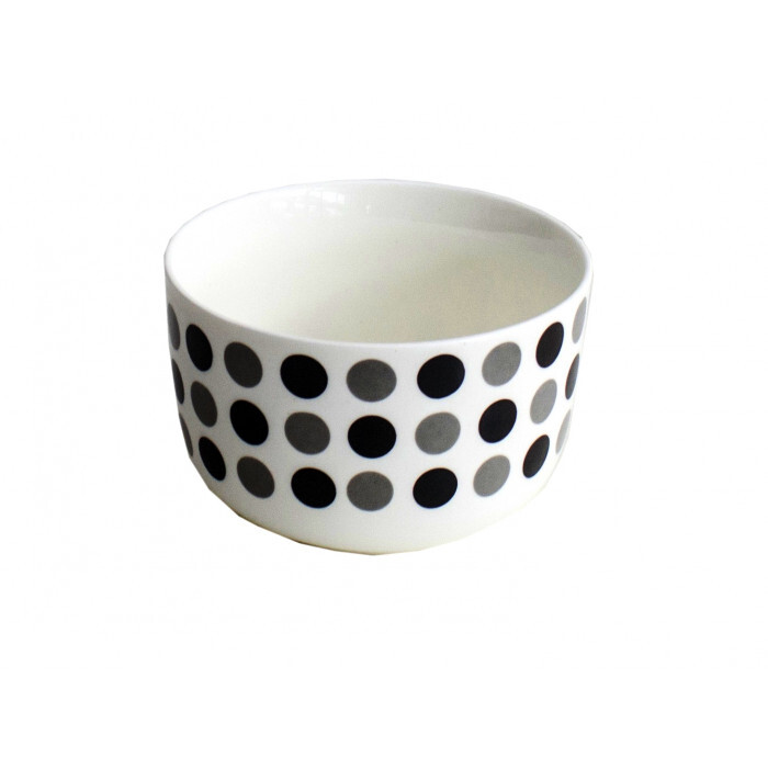 Купа за супа бяло и черно С17-129 / 13см