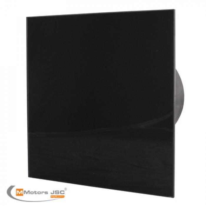Квадратен вентилатор за баня ММР 100 06 черен гланц 19W