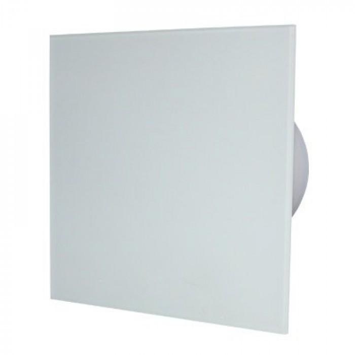 Квадратен вентилатор за баня ММР 100 06 бял гланц 19W