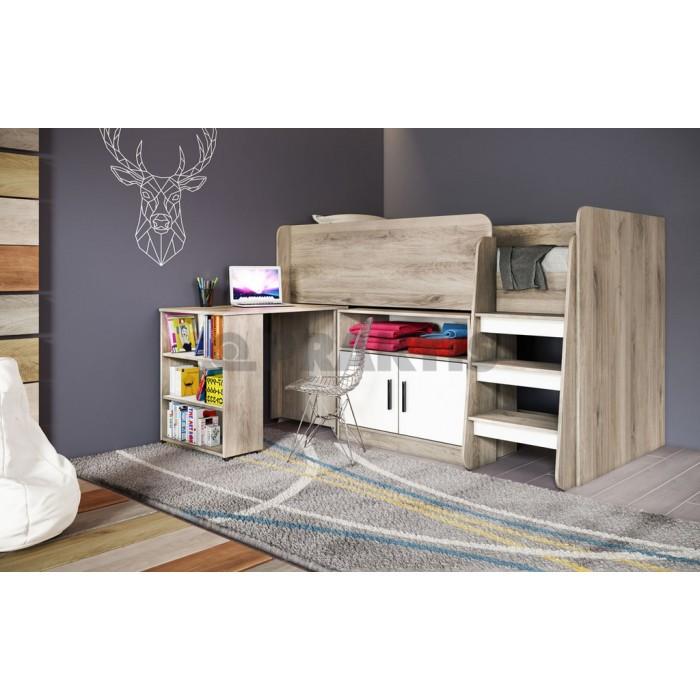 Мебели за детска City 5023 сонома арвен + бяло гладко