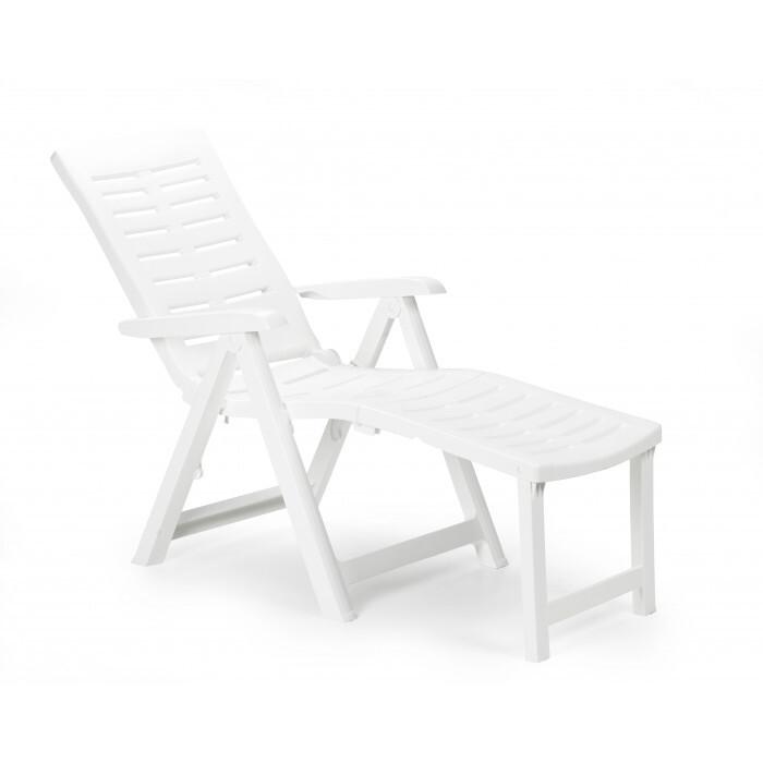 Градински PVC стол Arizona ARI036BI сгъваем бял 60x108x109см