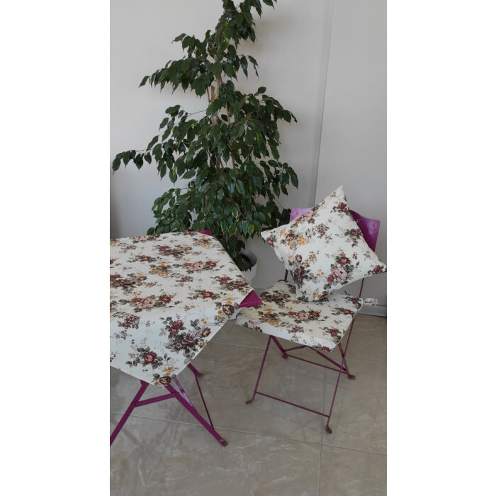 Възглавница за стол с цип Роуз 43х40х4см