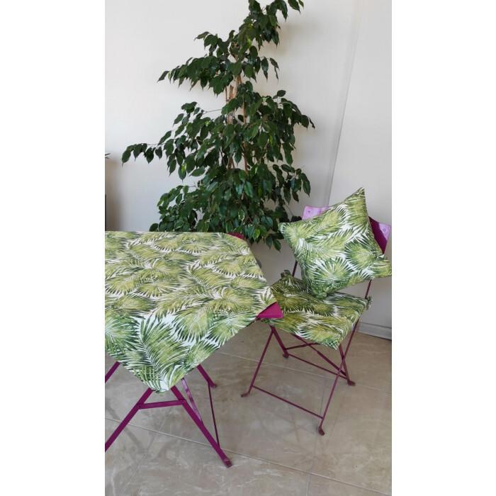 Декоративна възглавница с цип и пълнеж Грийн Палм 43х43см