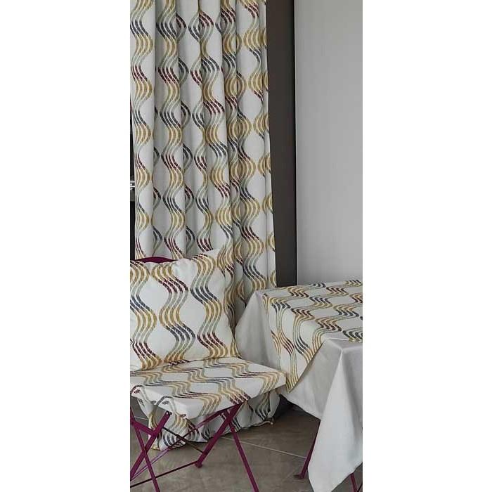 Възглавница за стол с цип Инфинити 43х40х4см