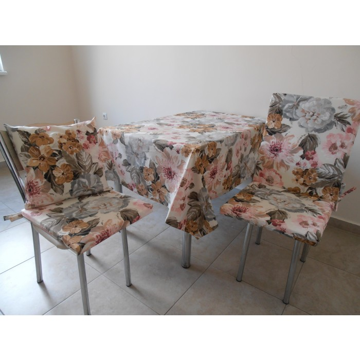 Възглавница за стол с цип Гарден 43х90х4см
