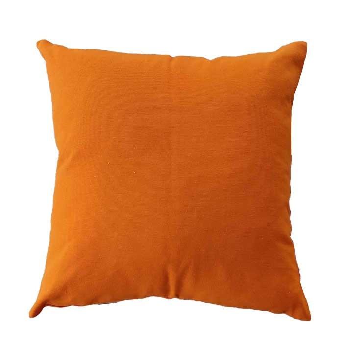 Декоративна възглавница с цип и пълнеж оранжева 43х43см