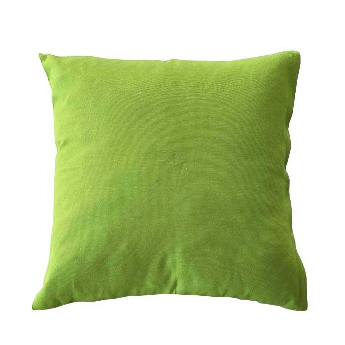 Декоративна възглавница с цип и пълнеж зелена 43х43см