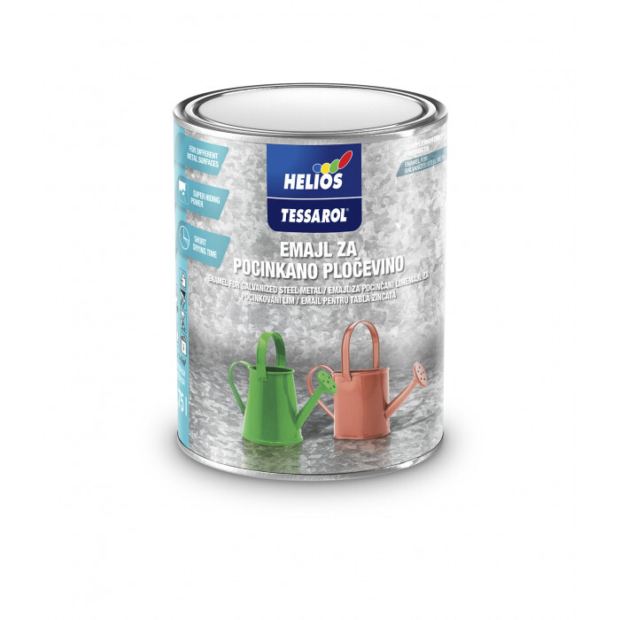 Емайллак за поцинковани повърхности Tessarol бял 0,75 л