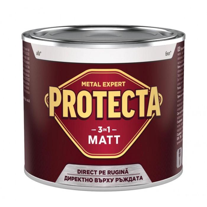 Алкидна боя 3 в 1 Protecta Matt бяла 0.5л