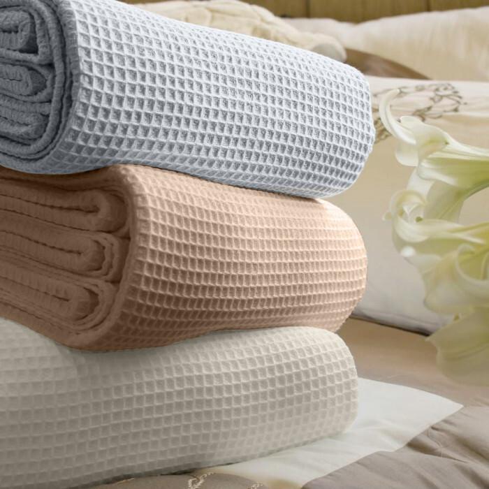 Покривка за легло Сиеста 160/230см пике екрю