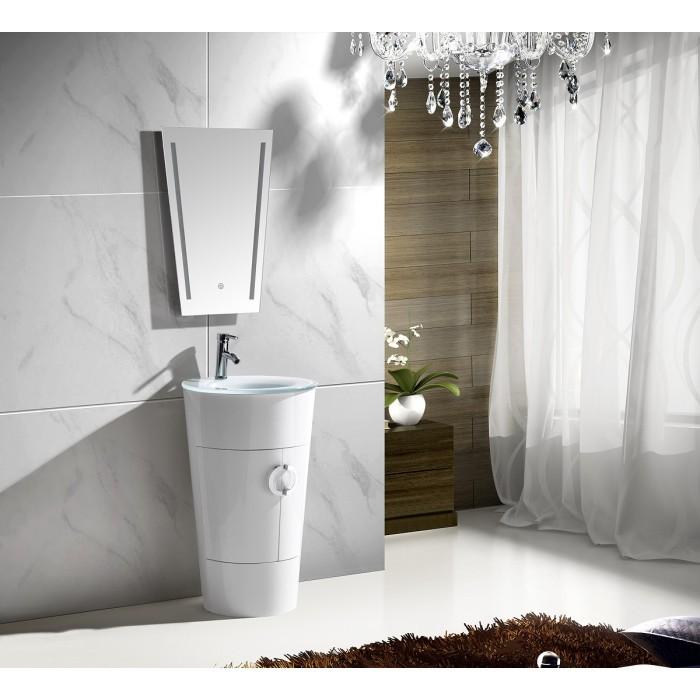 Комплект шкафове за баня - горен с огледало и долен с умивалник 10130W