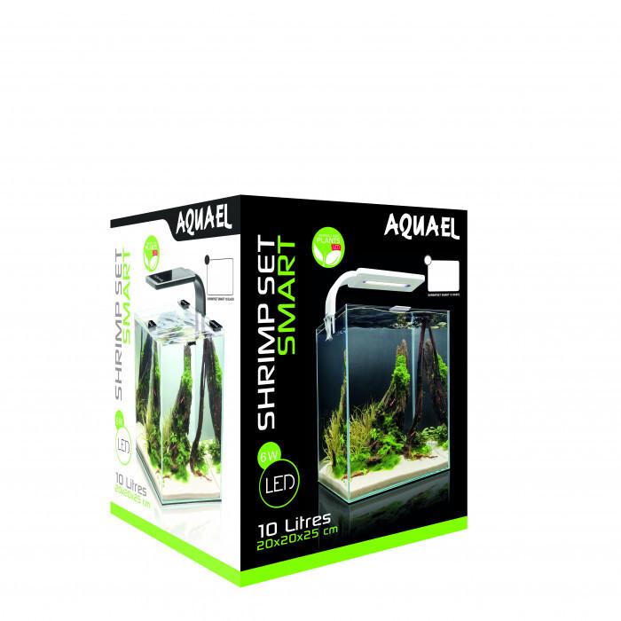 Аквариум Smart 10 black / LED лампа 20х20х25см / 10л