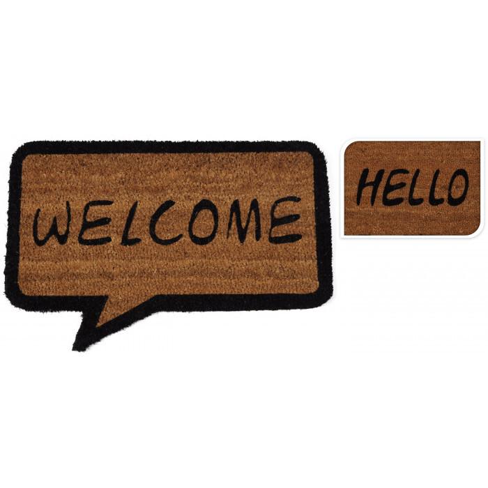 Изтривалка Кокос Hello/Welcome 60x40см
