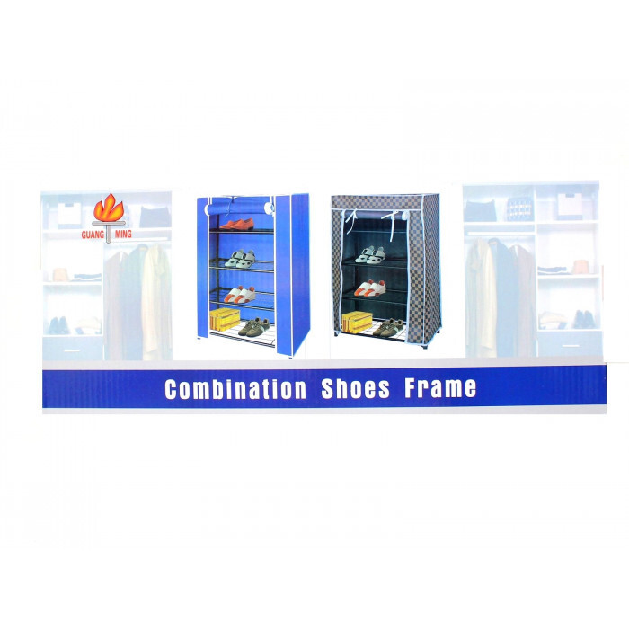 Шкаф за обувки текстил 4 етажа 60х30х72см