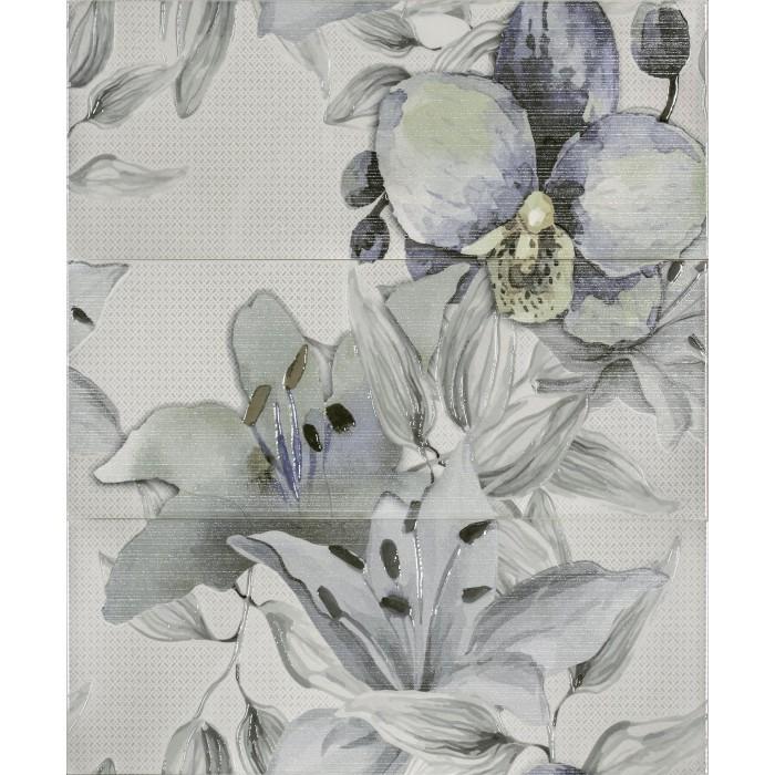 Стенни декоративни плочки пано IJ Виола цветя / зелени 500x600мм