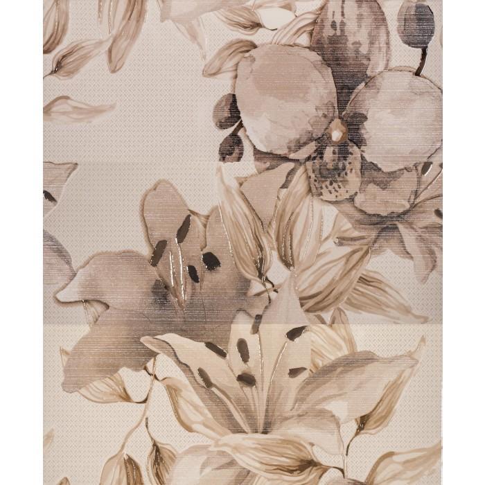 Плочки за стенна декорация пано IJ 500 x 600 Виола цветя кафяви