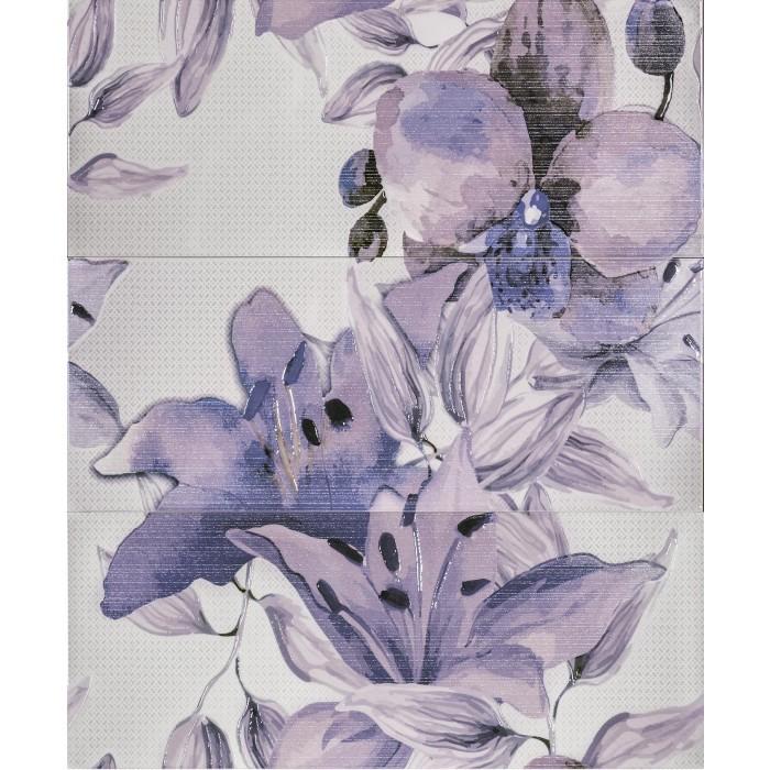 Плочки за стенна декорация пано IJ 500 x 600мм Виола цветя лилави