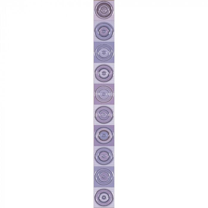 Стенни декоративни плочки фриз IJ  Универсал Кръг 50 x 500мм лилави