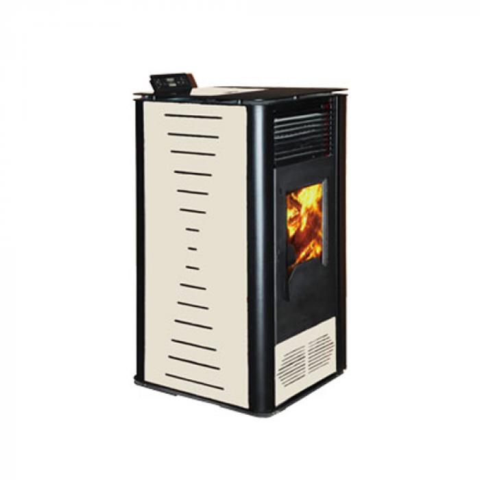 Пелетна Камина PD 10KW без водна риза - черна