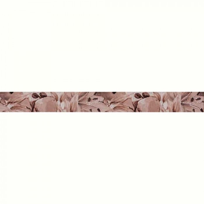 Плочки за стенна декорация фриз IJ 50 x 500мм Виола цветя кафяви