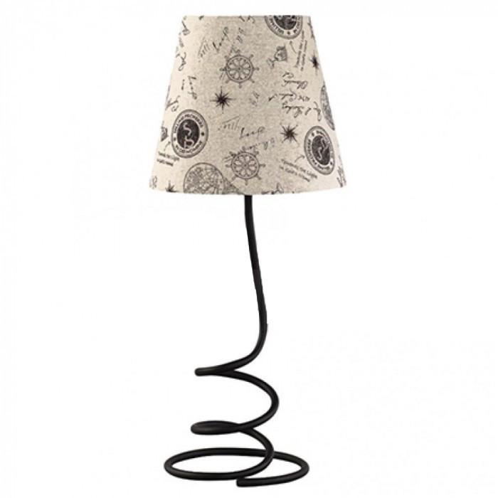 Настолна лампа Lightex Rico 10W E27 черна/бежова