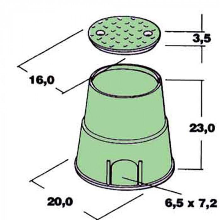 Кутия за електромагнитен клапан тип MINI кръгла