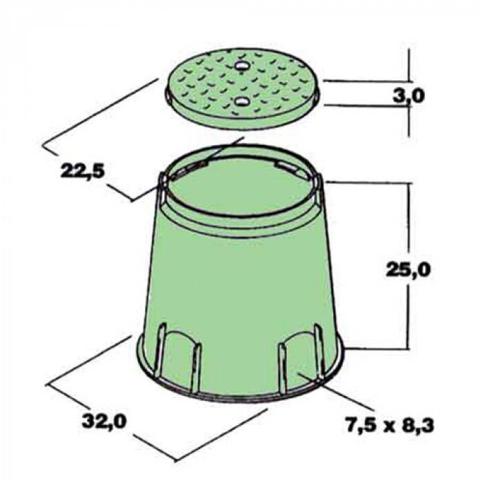 Кутия за електромагнитен клапан тип LARGE кръгла