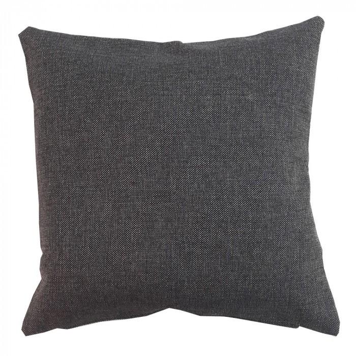 Декоративна възглавница с цип и пълнеж 43х43см кафява