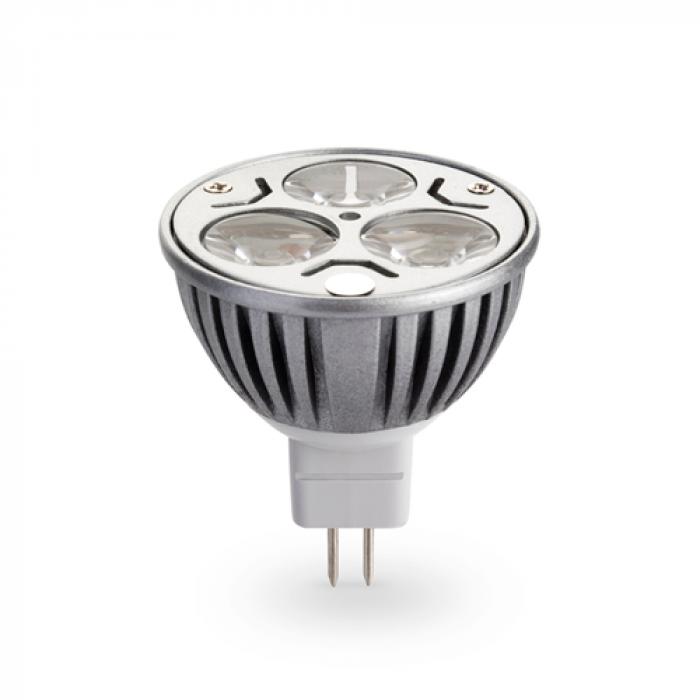 Лампа LED MR16 3x1W 12V топло бяла светлина