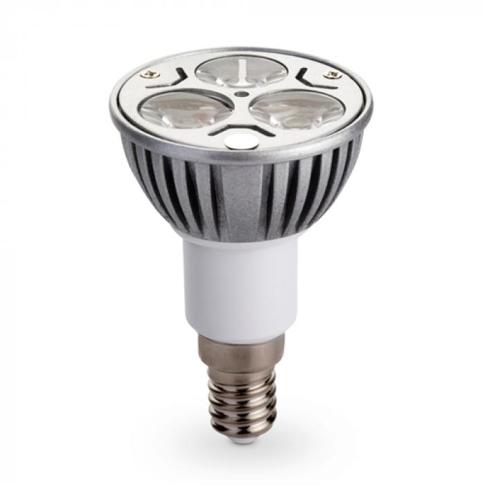 Лампа LED Е14 3x1W 220v бяла светлина