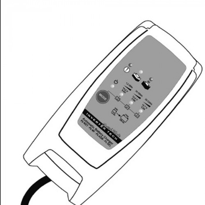 Зарядно за акумулатор  12V 3.6a 1.2-120AH 230V deca