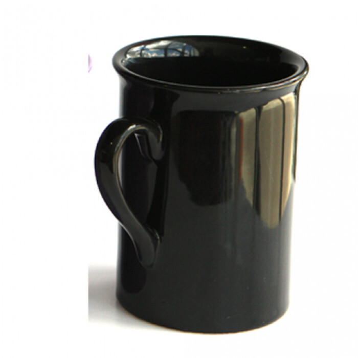 Чаша керамична  с дръжка оранжева