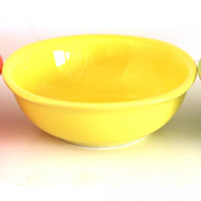 Керамична квадратна купа 25см жълто