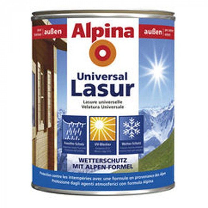 Лазурен лак за дърво универсал - бял 0.750 л / Аp universal lasur weiss 750 ml