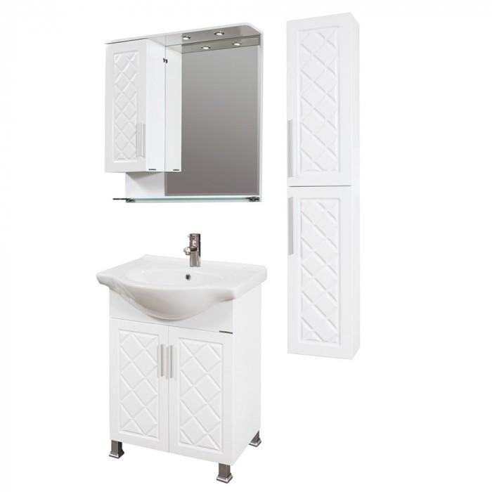 Горен PVC шкаф за баня с огледало Макена Ади