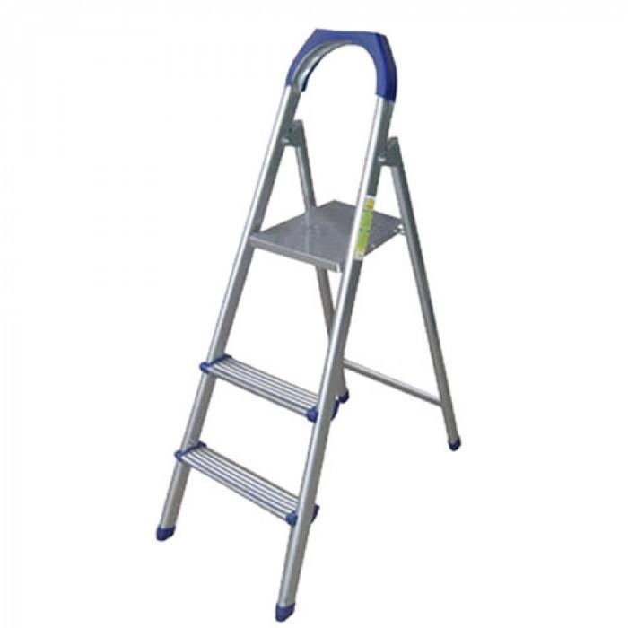 Алуминиева стълба 2+1 стъпала / 120 кг / 55 см