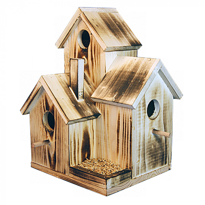Хранилка и къщичка за птици