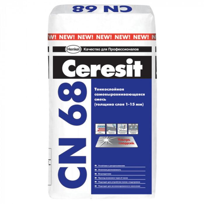 Саморазливна подова замазка Ceresit CN 68 / 25кг