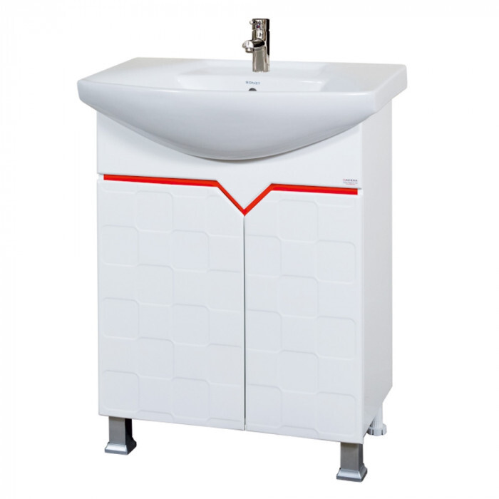 Долен шкаф за баня с умивалник Макена Бюти 65x85х43см